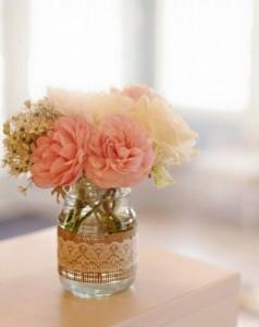 10 ideias de reciclagem potinhos de vidro flores decoracao casa festas casamento cha de bebe aniversario batizado 10
