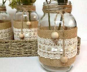 10 ideias de reciclagem potinhos de vidro flores decoracao casa festas casamento cha de bebe aniversario batizado 2
