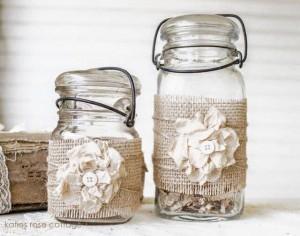 10 ideias de reciclagem potinhos de vidro flores decoracao casa festas casamento cha de bebe aniversario batizado 8