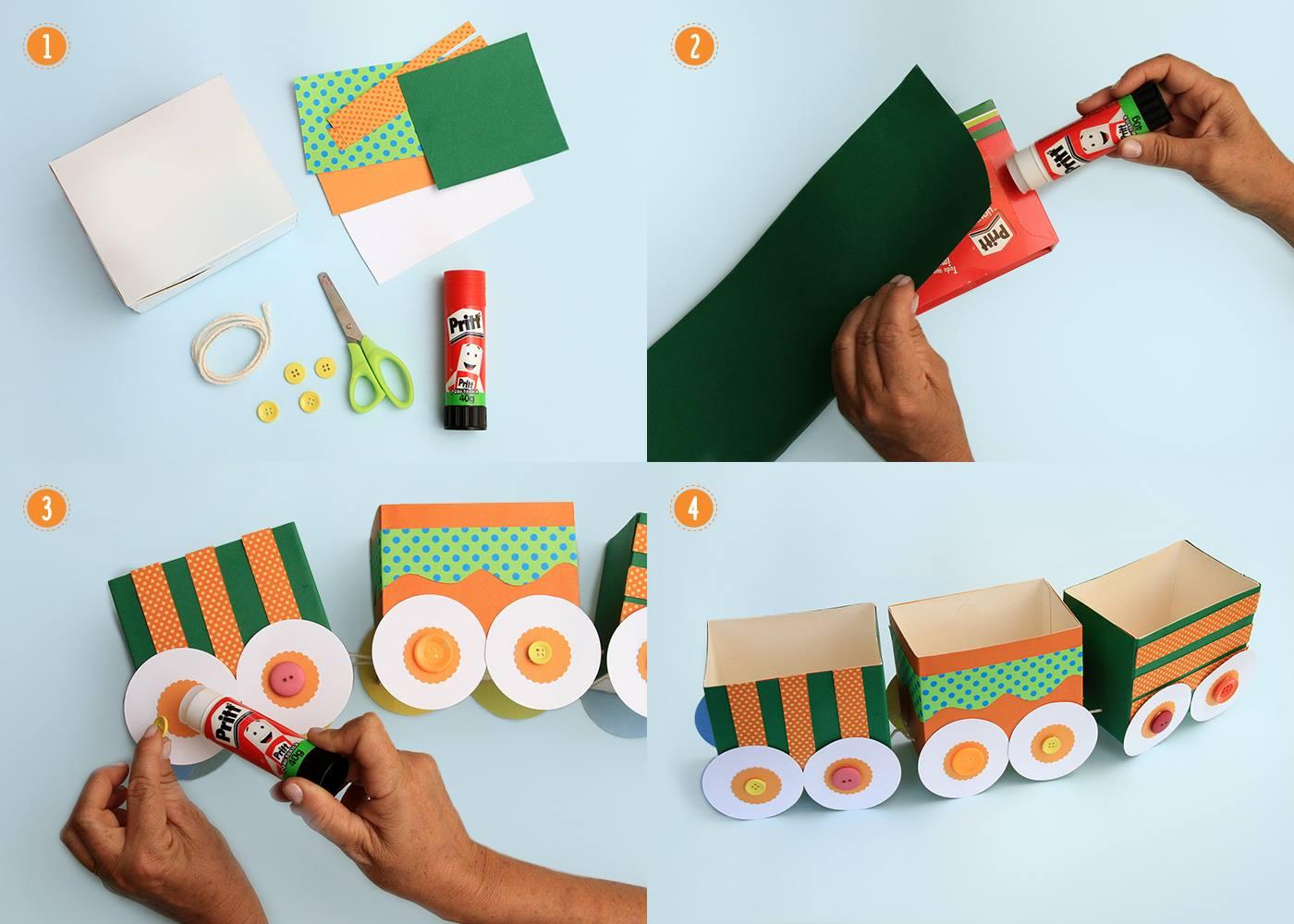 10 ideias lembrancinha dia das criancas escola trenzinho reciclagem caixinhas