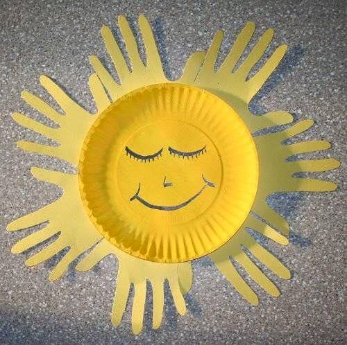 artesanato pratos descartavel atividade criancas escola artes
