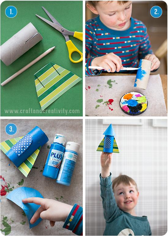 brinquedo reciclado como fazer foguetinho criancas escola rolo de papel higienico reciclagem atividade escolar 1