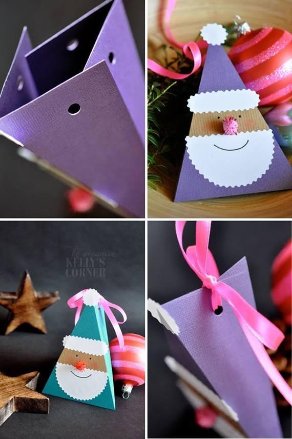 como fazer caixa presente de papel papai noel natal 2