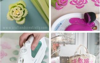 como fazer carimbo artesanal estampar decoracao bolsas almofadas
