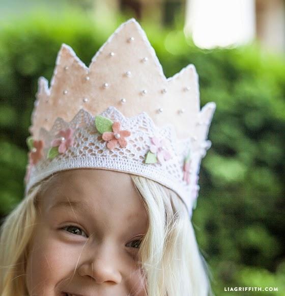como fazer coroa princesa feltro meninas princesinhas disney
