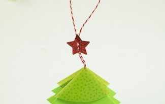 como fazer mini arvore natal papel origami