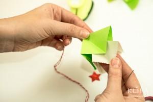 como fazer mini arvore natal papel origami 12