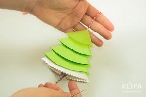 como fazer mini arvore natal papel origami 13