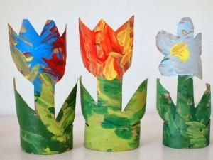 como fazer plantinha rolo papel higienico reciclagem sala de aula escola 4