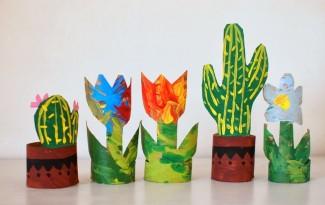 como fazer plantinha rolo papel higienico reciclagem sala de aula escola  5