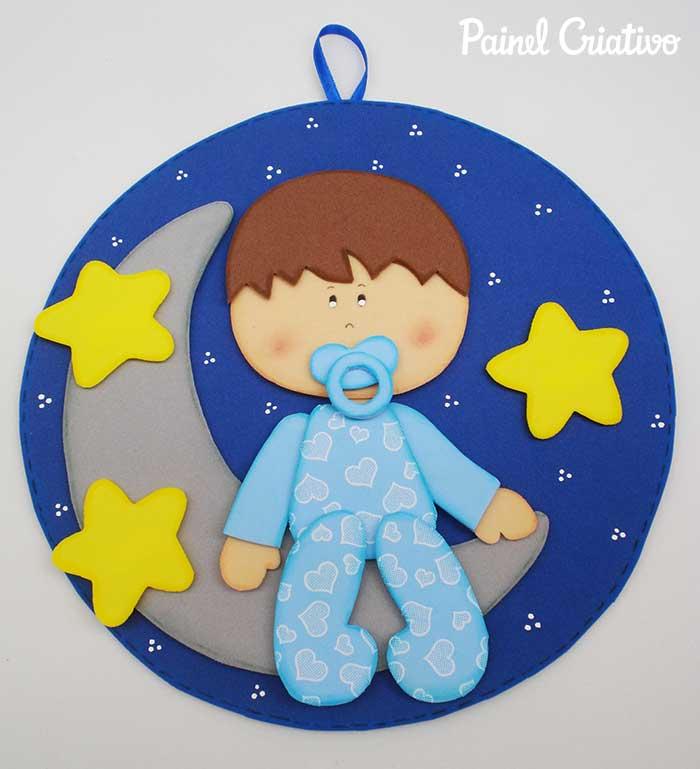 como fazer quadrinho maternidade menino EVA decoracao quarto de bebe 2