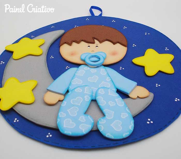 como fazer quadrinho maternidade menino EVA decoracao quarto de bebe 3