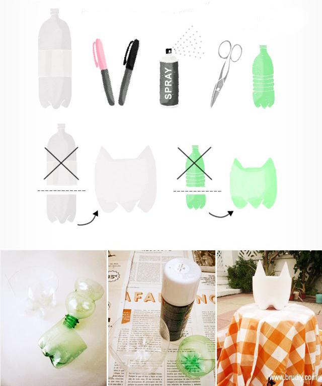 como fazer vasinho plantas garrafa pet gatinho decoracao casa apartamento 1