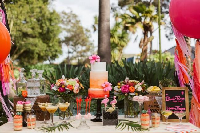 ideias decoracao festa tema flamingos aniversario cha cozinha cha bar 11