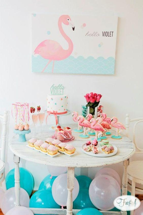 ideias decoracao festa tema flamingos aniversario cha cozinha cha bar 4