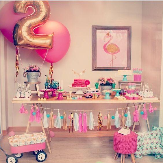 ideias decoracao festa tema flamingos aniversario cha cozinha cha bar 5