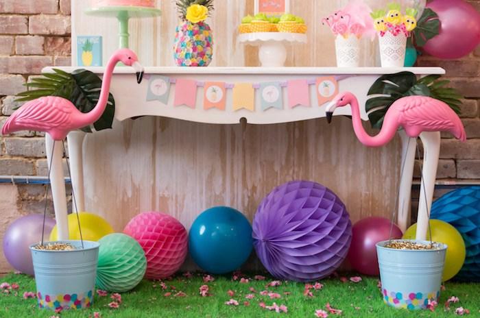 ideias decoracao festa tema flamingos aniversario cha cozinha cha bar 7