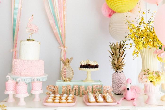 ideias decoracao festa tema flamingos aniversario cha cozinha cha bar 8