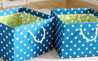 passo a passo organizador caixa papelão forrado tecido casa guardar roupas brinquedos