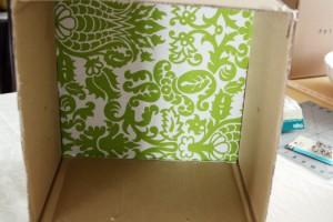 passo a passo organizador caixa papelão forrado tecido casa guardar roupas brinquedos 2
