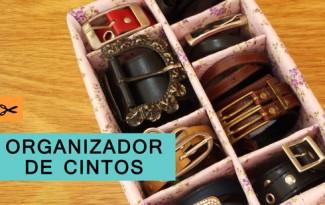 passo a passo organizador cintos dica organizacao quarto guarda roupa caixa de sapato reciclagem