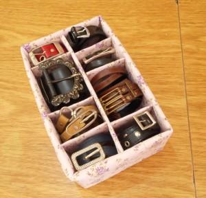 passo a passo organizador cintos dica organizacao quarto guarda roupa caixa de sapato reciclagem 11