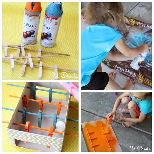 brinquedo reciclado mesa pebolim toto caixa sapato criancas 3