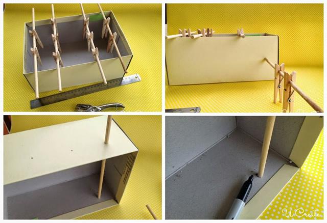 brinquedo reciclado mesa pebolim toto caixa sapato criancas 6