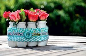 15 ideias criativas reciclagem pote iogurte 2