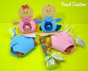 como fazer artesanato com sobras de EVA lembrancinha maternidade