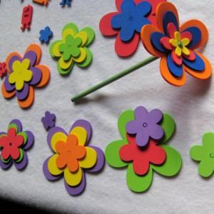 como fazer artesanato com sobras de EVA ponteiras florzinhas