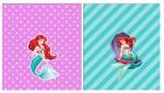 Kit digital pequena sereia ariel festa personalizados aniversario menina lembrancinhas rotulos caixinha personalizada Batom