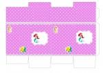 Kit digital pequena sereia ariel festa personalizados aniversario menina lembrancinhas rotulos caixinha personalizada Caixa milk