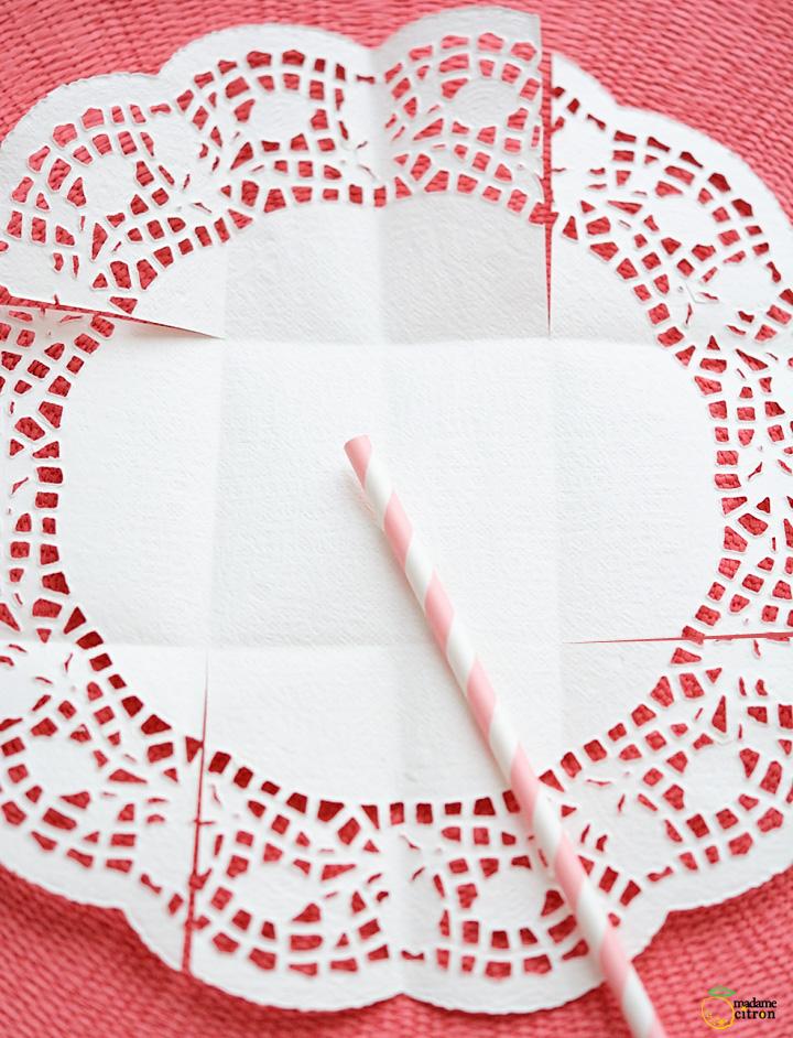 como fazer cestinha papel doilies toalhinha rendada decoracao festa aniversario casamento batizado 4