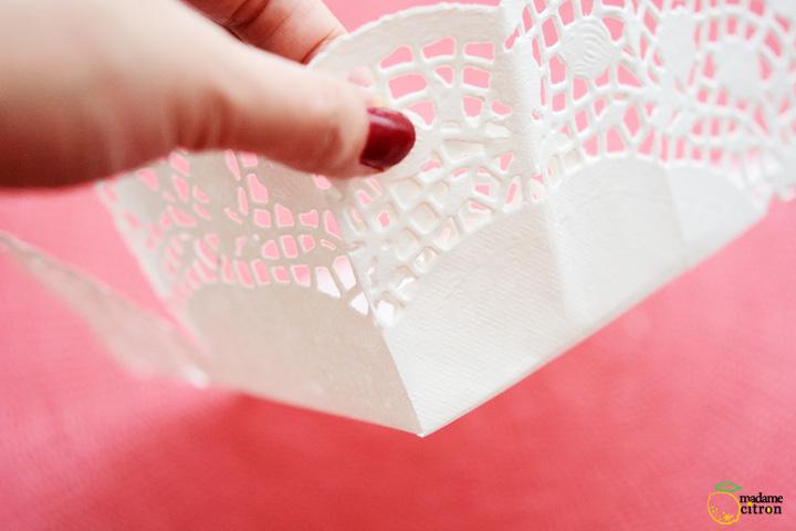 como fazer cestinha papel doilies toalhinha rendada decoracao festa aniversario casamento batizado 5