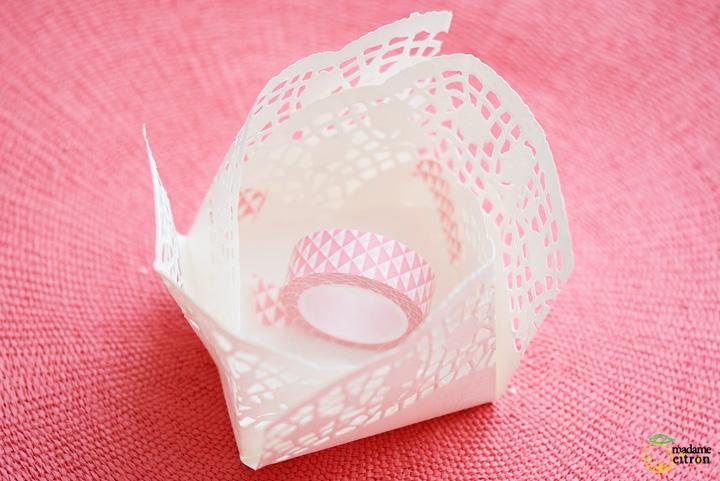 como fazer cestinha papel doilies toalhinha rendada decoracao festa aniversario casamento batizado 6