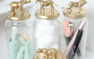 como fazer pote vidro decorado animais decoracao casa 8