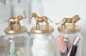 como fazer pote vidro decorado animais decoracao casa 9