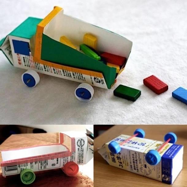 faca voce mesmo brinquedo reciclado criancas carrinho meninos