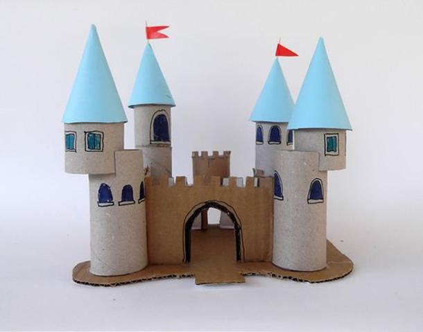 faca voce mesmo brinquedo reciclado criancas castelo papelao princesas meninas