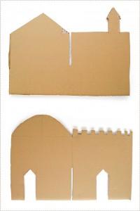 molde castelo brinquedo reciclado criancas atividade criativa reciclagem papelao 2