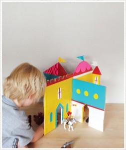 molde castelo brinquedo reciclado criancas atividade criativa reciclagem papelao