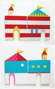 molde castelo brinquedo reciclado criancas atividade criativa reciclagem papelao 3