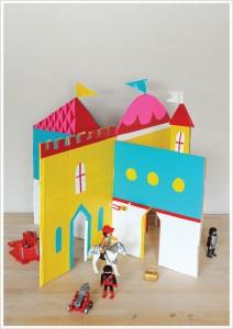 molde castelo brinquedo reciclado criancas atividade criativa reciclagem papelao 5