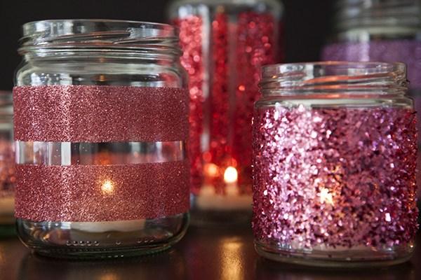 passo a passo pote de vidro decorado glitter natal jantar romantico festa decoracao casa 1
