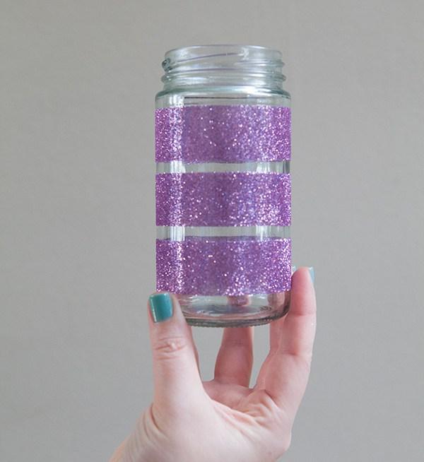 passo a passo pote de vidro decorado glitter natal jantar romantico festa decoracao casa 7
