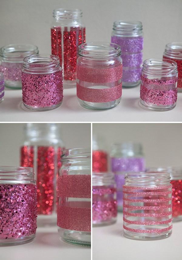 passo a passo pote de vidro decorado glitter natal jantar romantico festa decoracao casa 8