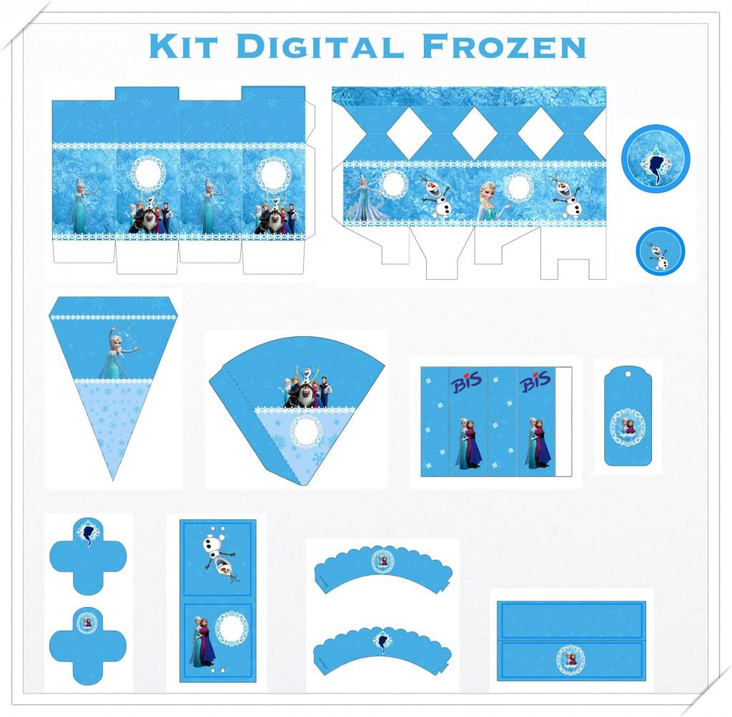 Kit digital Frozen festa personalizados aniversario menina lembrancinhas rotulos caixinha personalizada