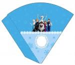 Kit digital Frozen festa personalizados aniversario menina lembrancinhas rotulos caixinha personalizada Cone frozen