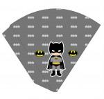 Kit digital batman festa personalizados aniversario menino lembrancinhas rotulos caixinha personalizada Cone 2-1